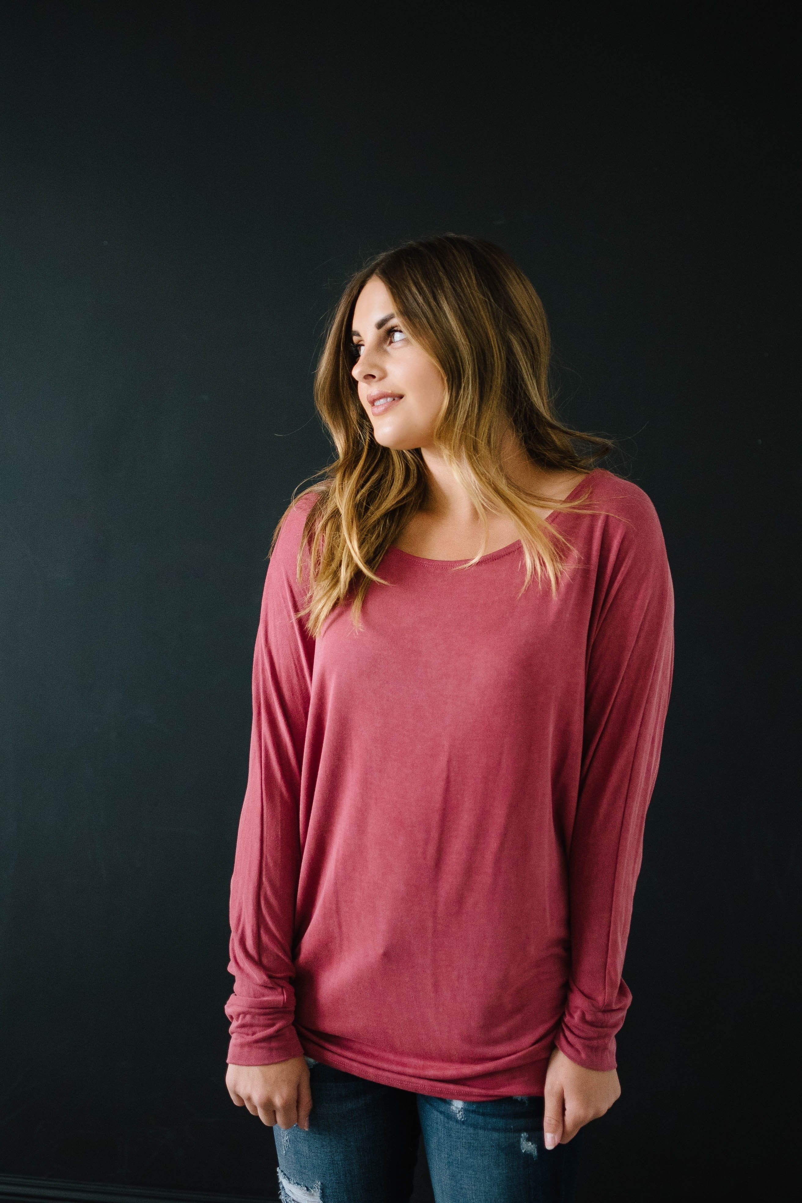 Casual Friday Top in Rose