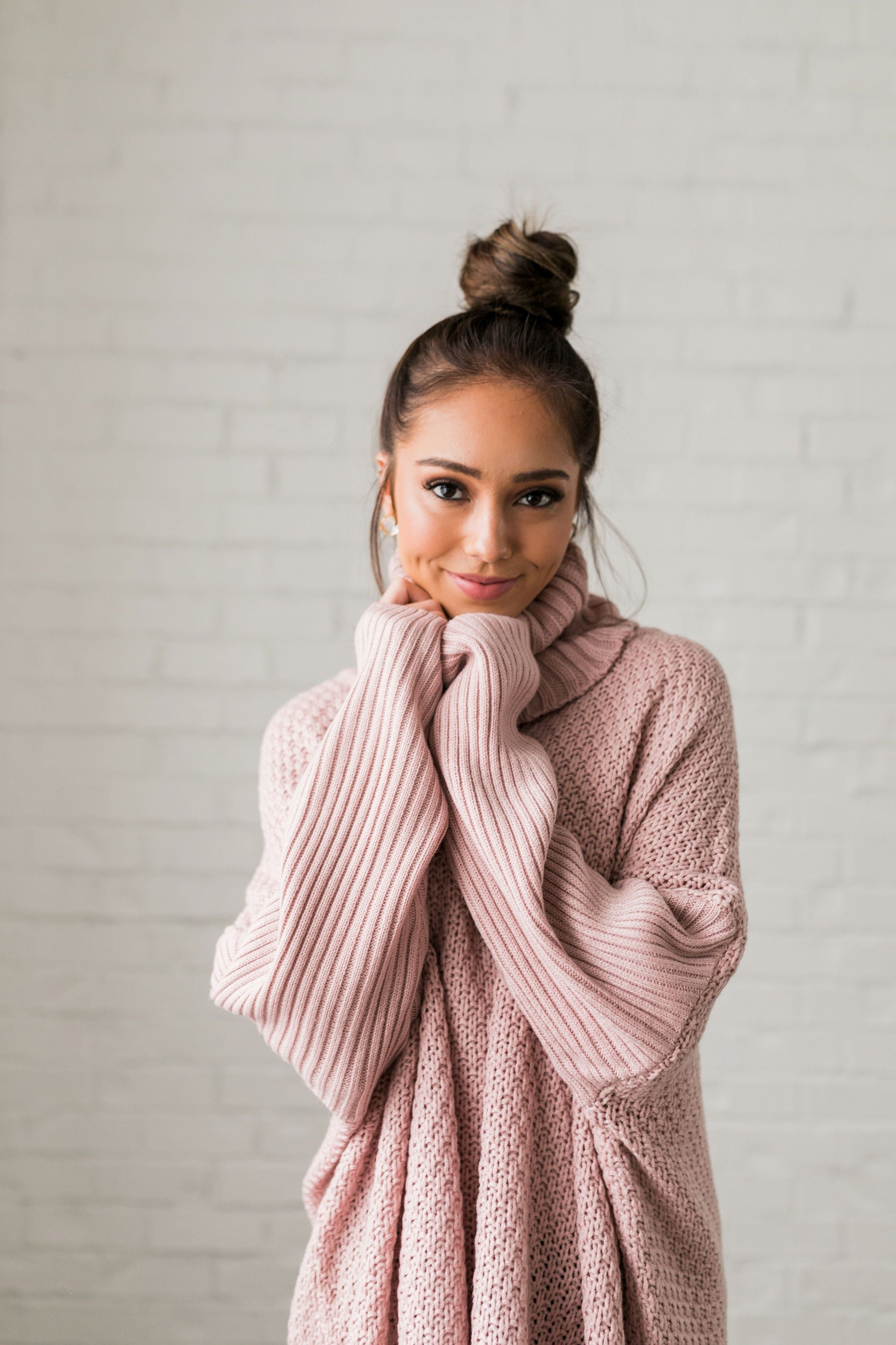 Chunky Cowl Neck Sweater