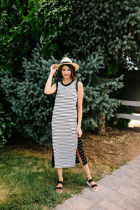 Double Dipped Striped Dress