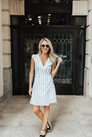 Dream Stripes Wrap Dress