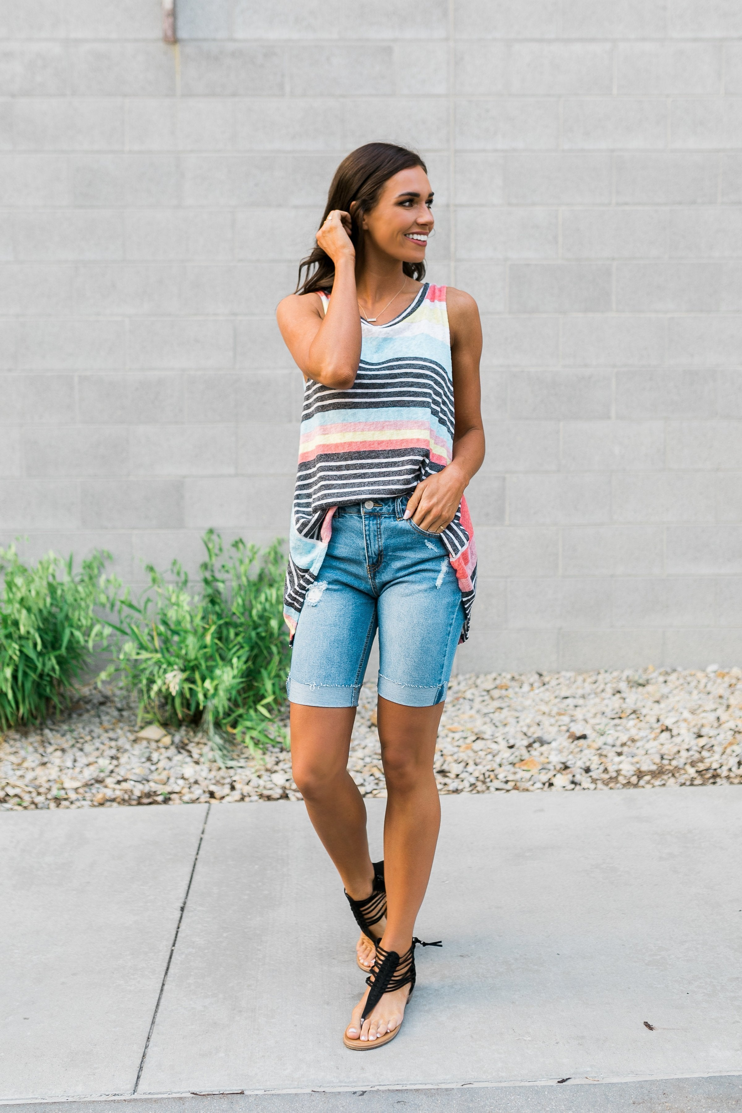 Earn Your Stripes Sleeveless Top
