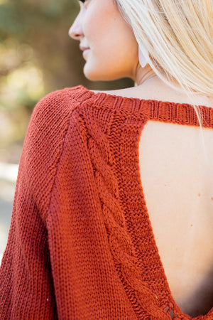 Fall Fantasy Peekaboo Sweater - ALL SALES FINAL