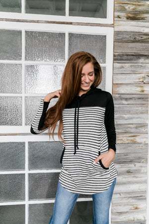 French Terry Tunic Hoodie - ALL SALES FINAL