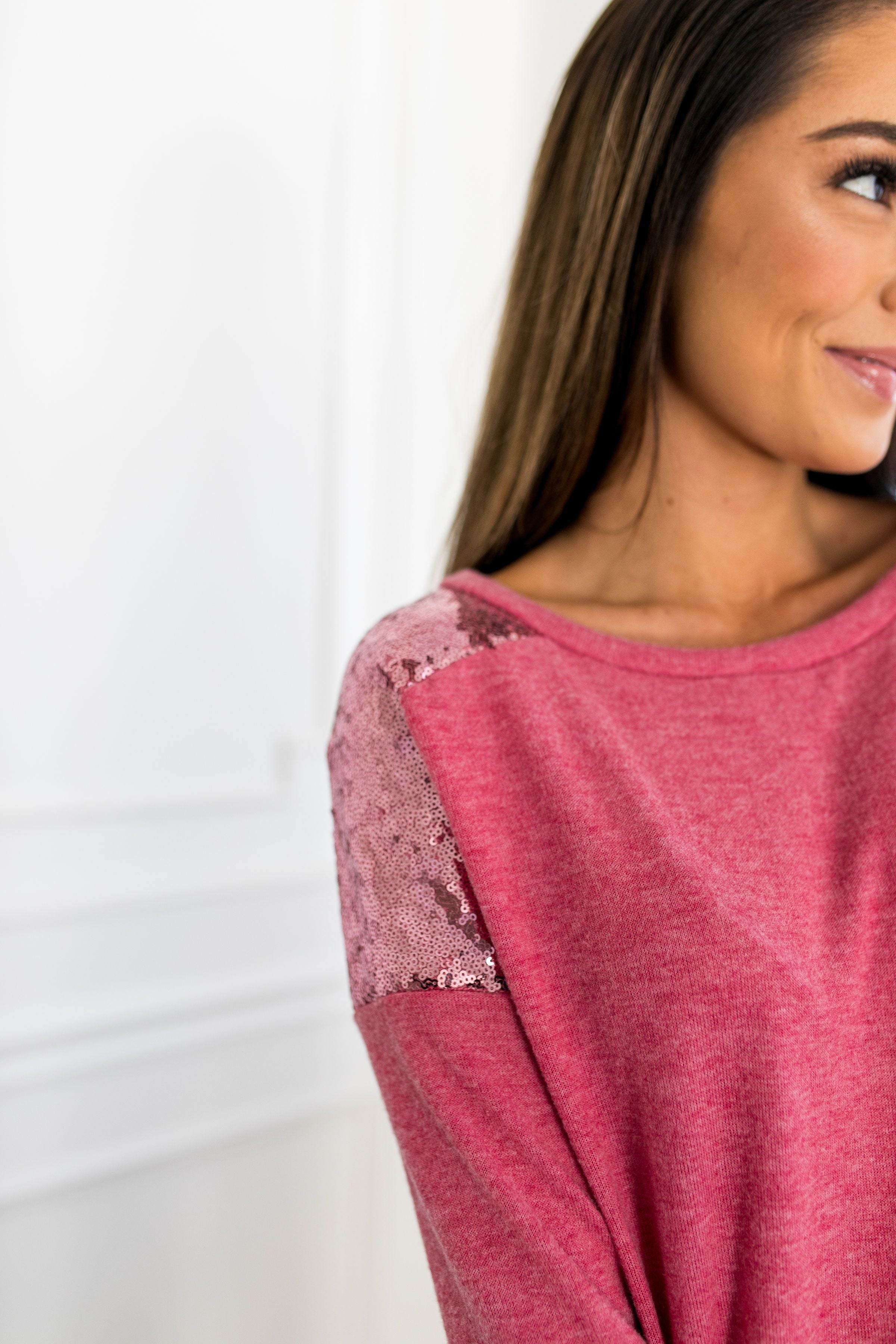 Glitter In The Air Sequined Top