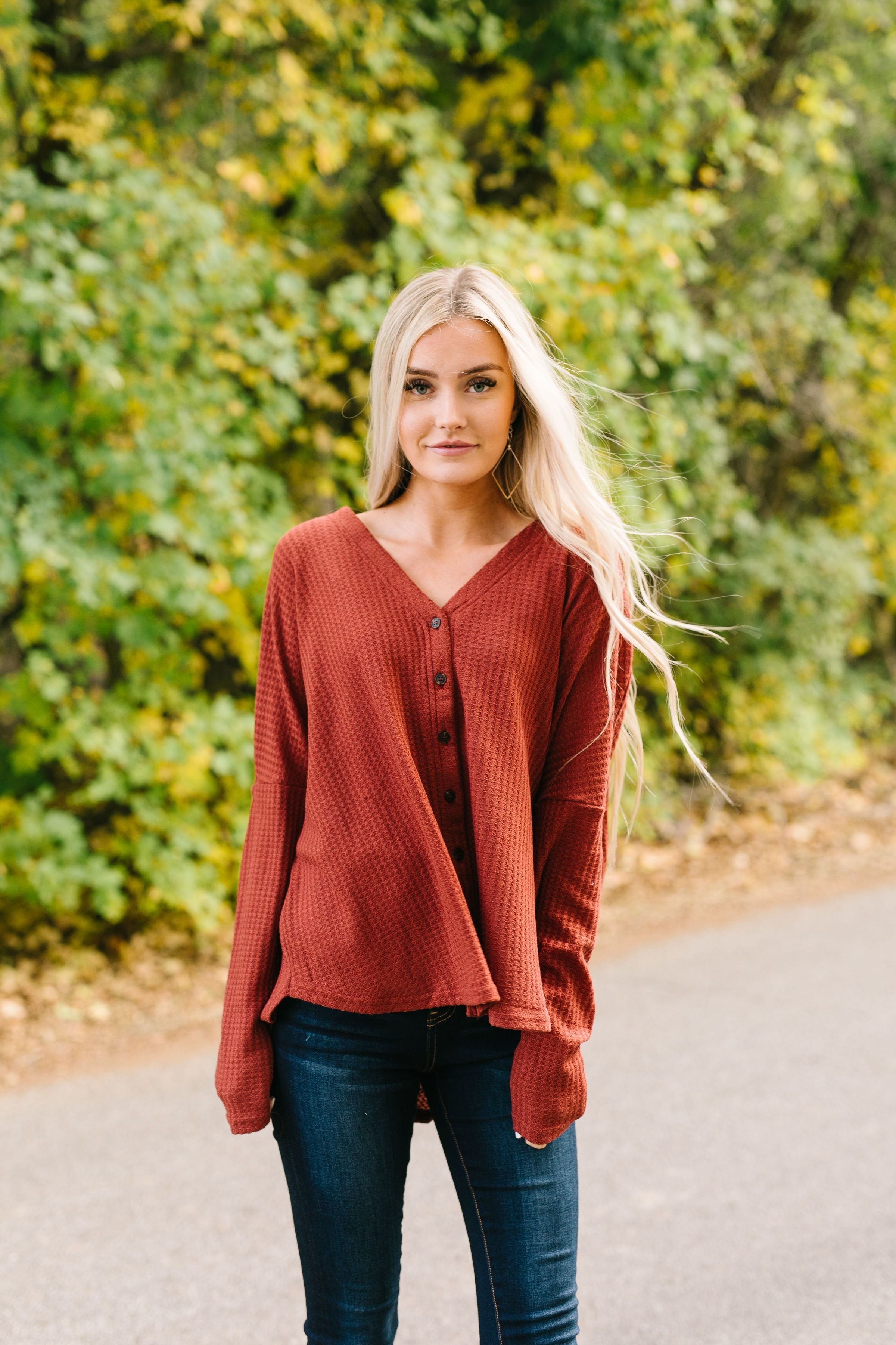 Harvest Buttondown In Burgundy - ALL SALES FINAL