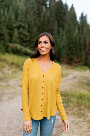 Harvest Gold Buttondown In Mustard