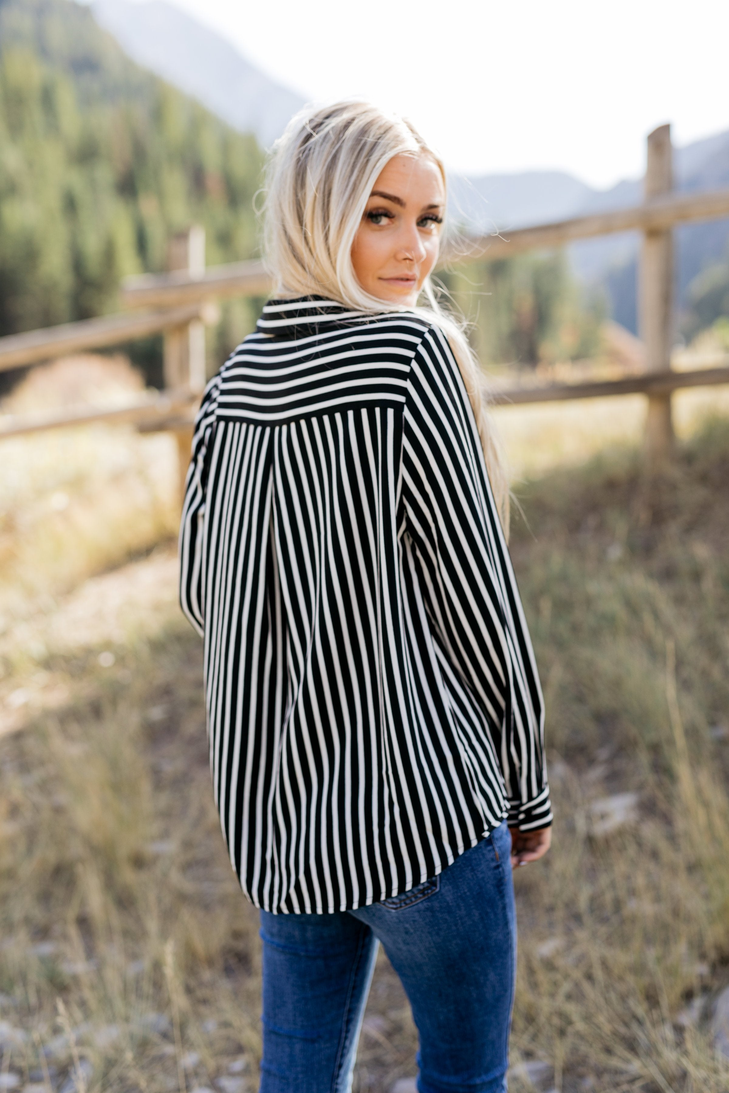 Make The Call Striped Top