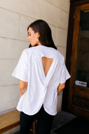 Make The Cut Twist Back Top - ALL SALES FINAL