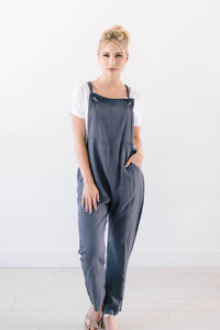 Mandy Overalls In Slate Blue