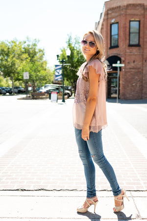 Mocha Love Lace Top