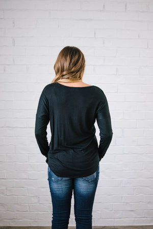 Penny Pocket Top in Black