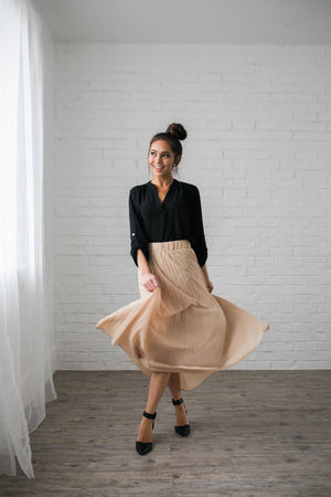 Pleated Chiffon Maxi Skirt - ALL SALES FINAL