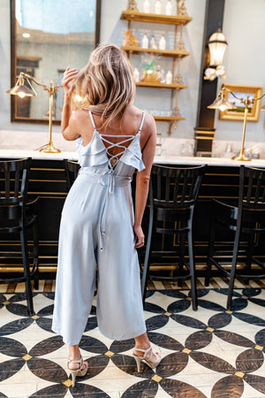 Sky Ties Jumpsuit - ALL SALES FINAL