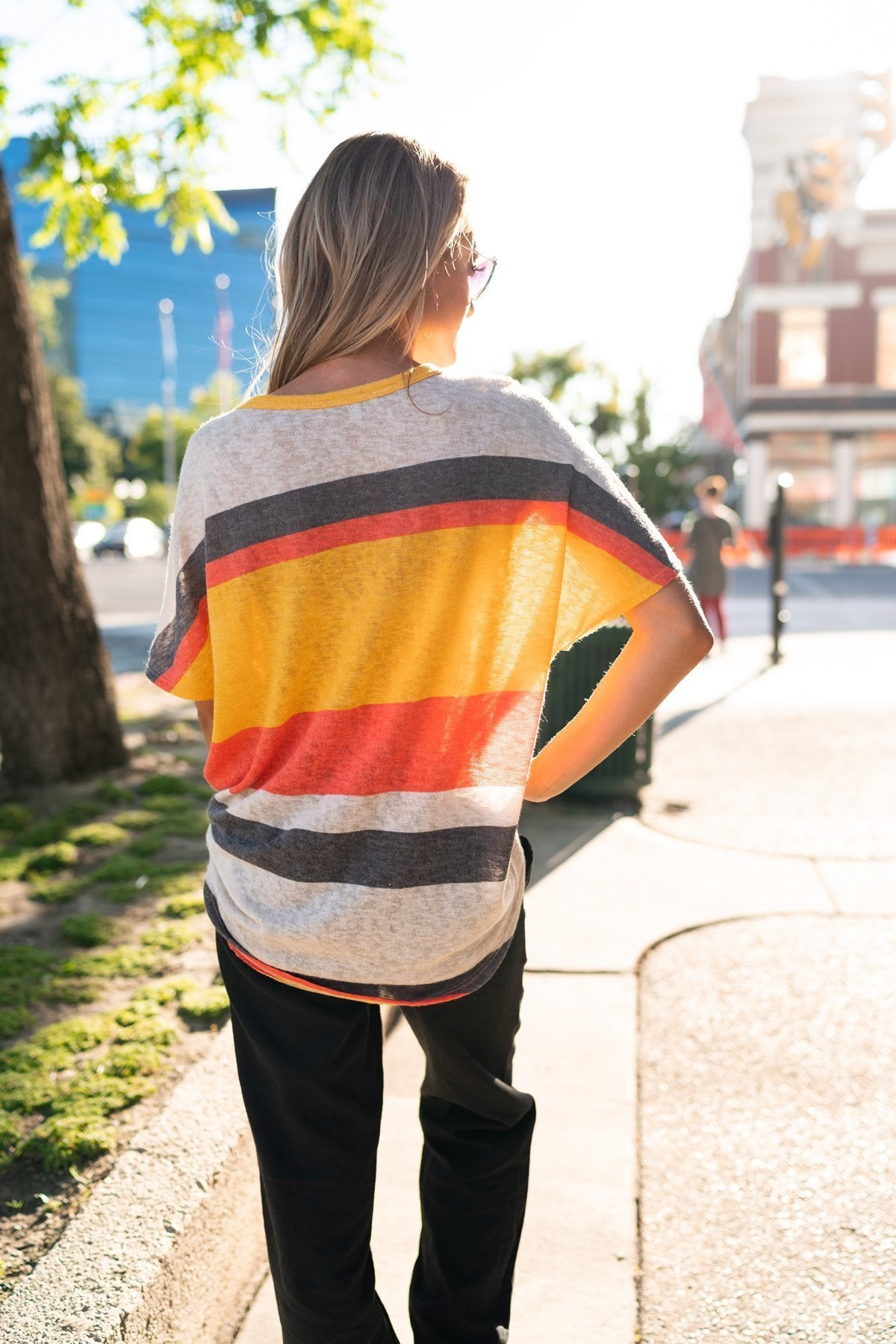 Sunset Stripes Top