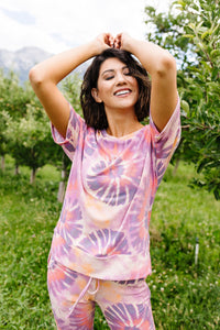 Swirly Tie Dye Lounge Top