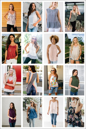 Summer In January Tank Top Grab Bag - 3 Items - ALL SALES FINAL