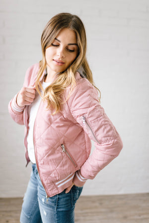 The Bomb Jacket in Mauve