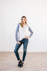 The Britta Striped Long Sleeve Top