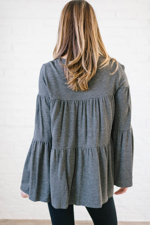 The Hazel Peplum in Gray