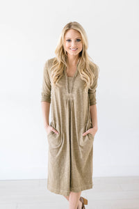 The McCall Dress in  Pale Olive
