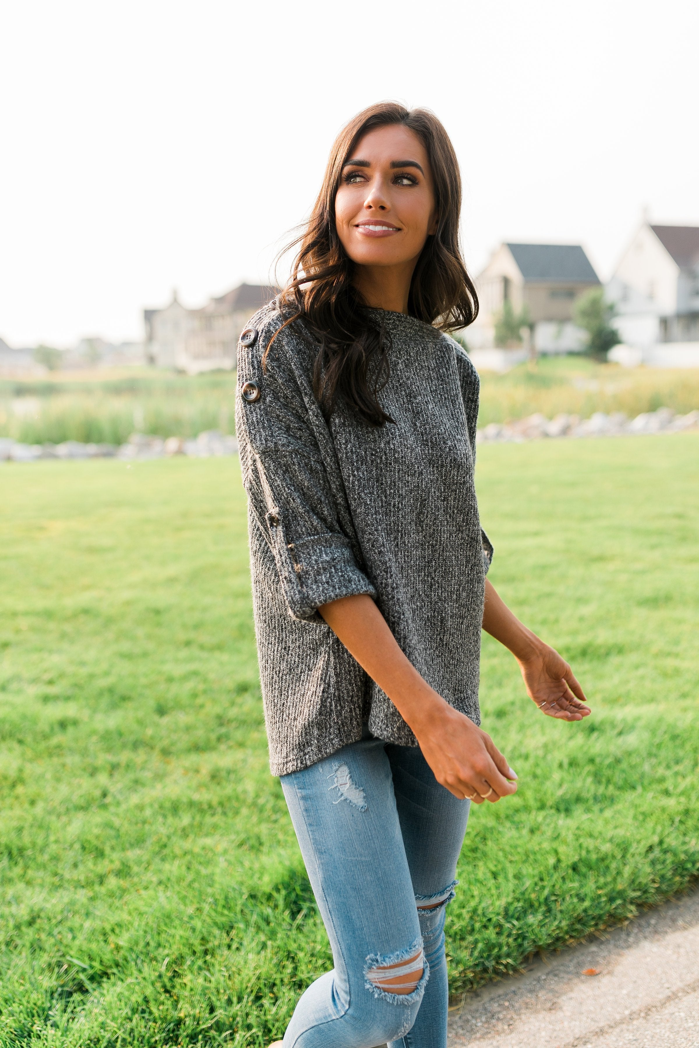 Winthrop Sweater in Charcoal
