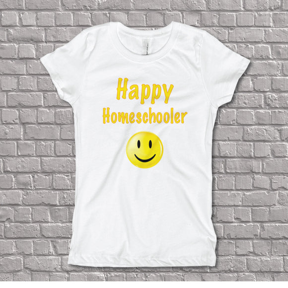 Happy Homeschooler Girl's Fitted Tee