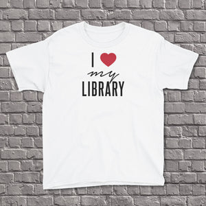 I Love My Library Youth Tee