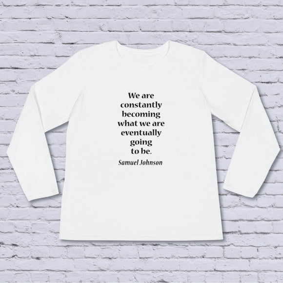 We Are Constantly Becoming Women's Long-Sleeve Tee