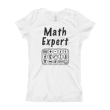 Math Expert Girl's Fitted Tee