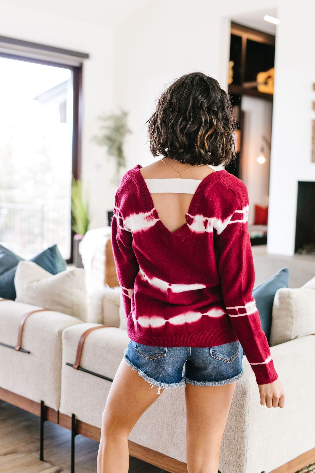 Fit To Be Tie Dyed Sweater In Berry
