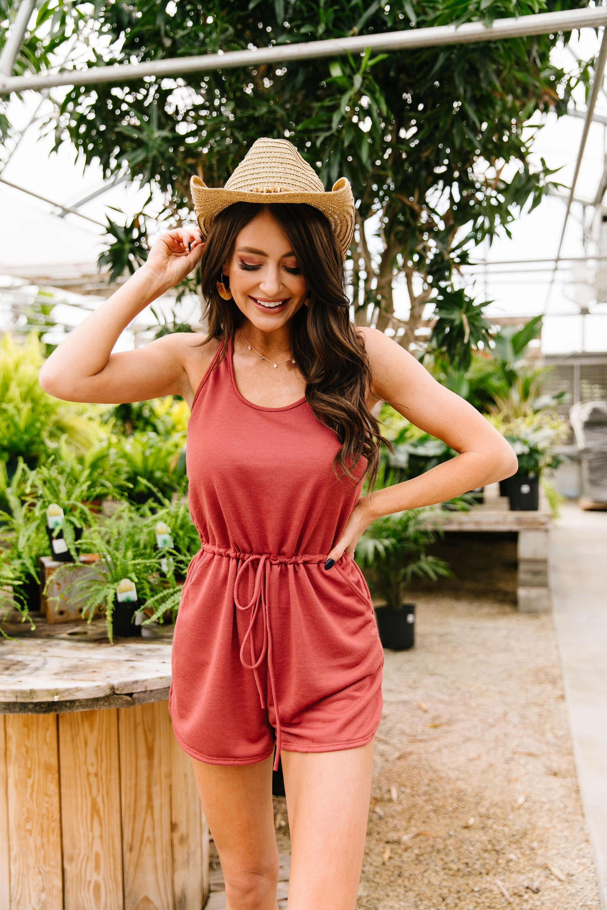 All Play Romper In Paprika