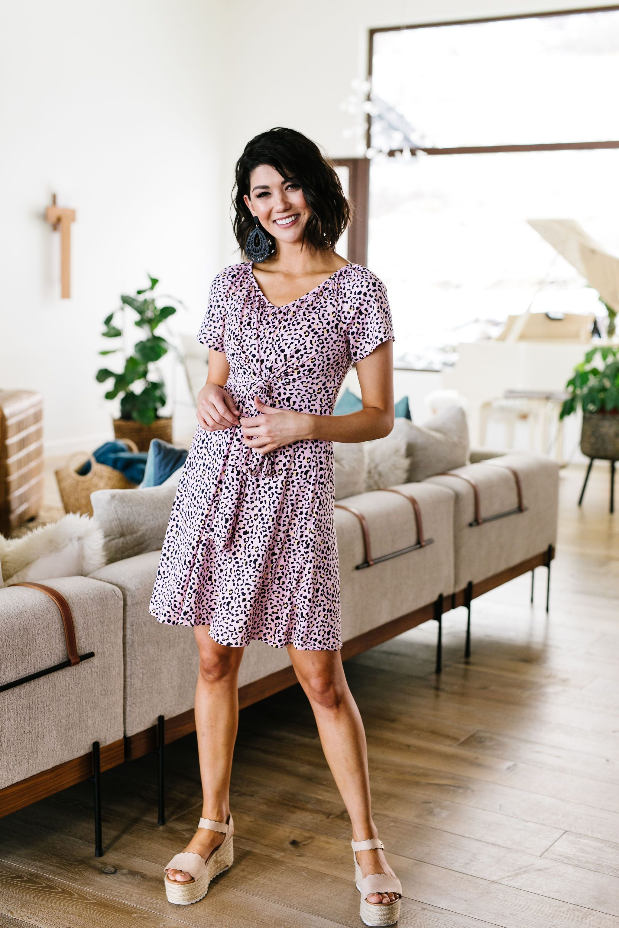 First Crush Blush Spotted Dress