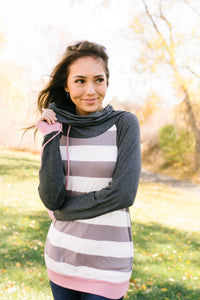 Make A Weekend Out Of It Cowl Neck Top - ALL SALES FINAL
