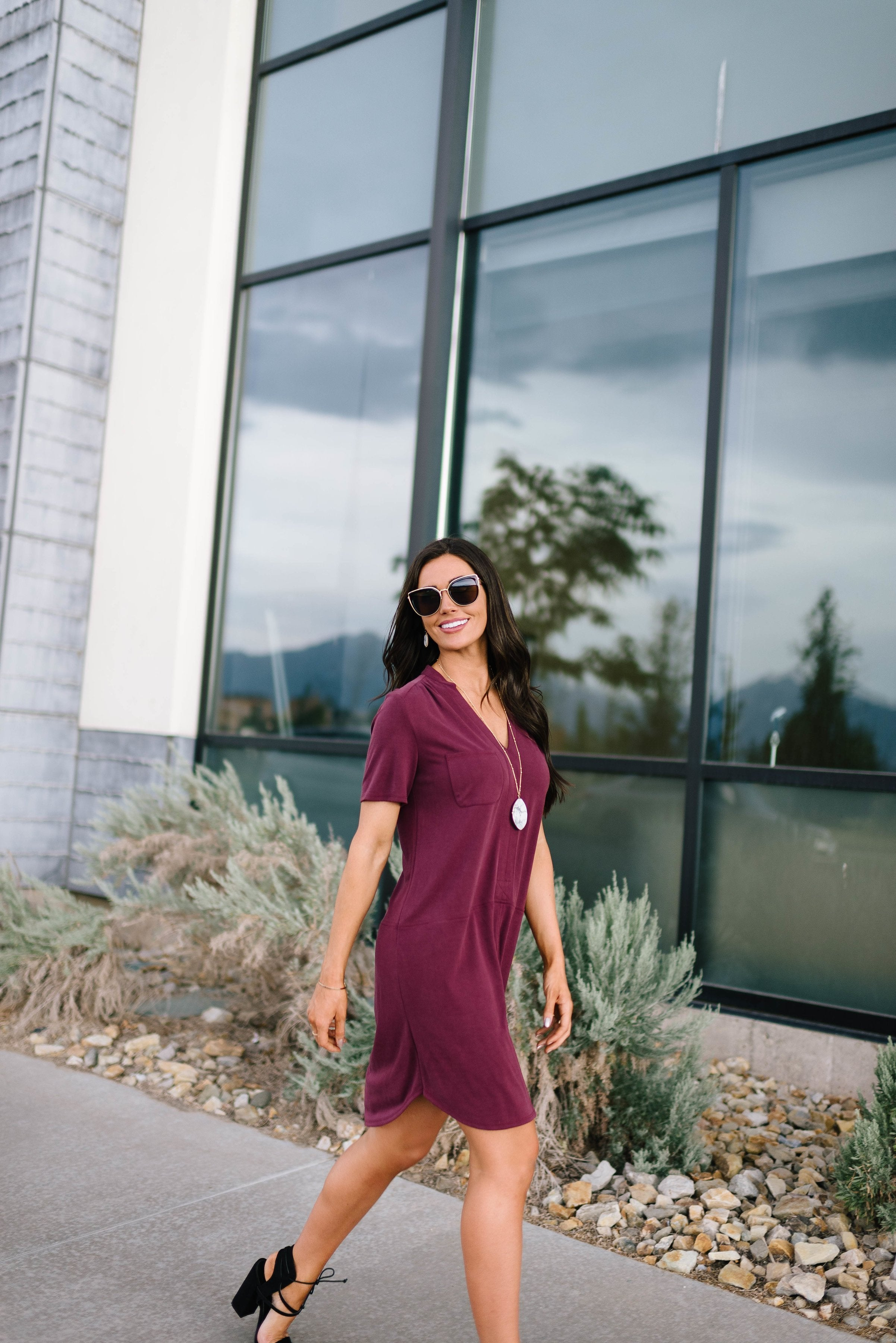 Northwest Knit Dress in Burgundy
