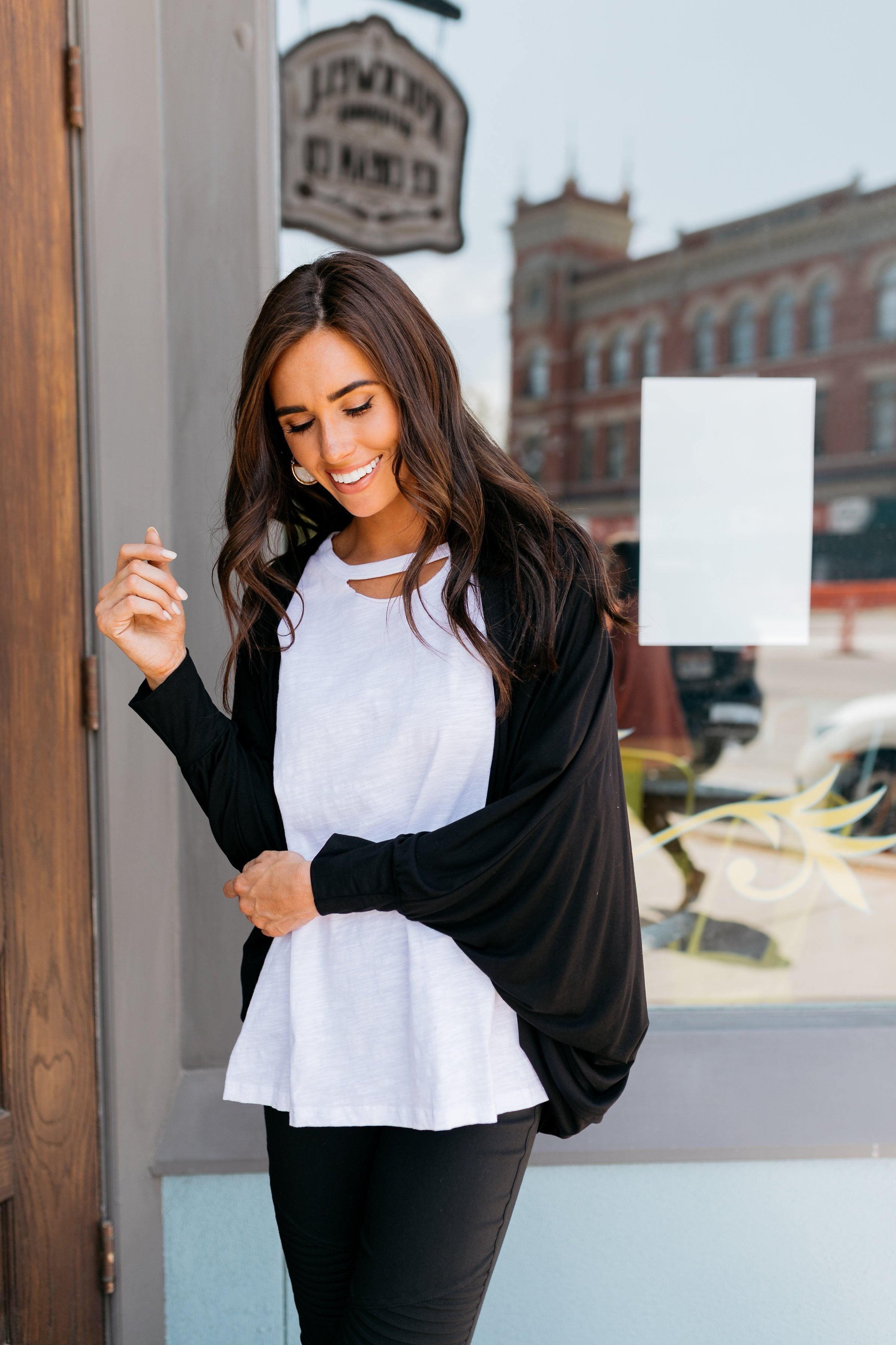 Shrug It Off Cardigan In Black