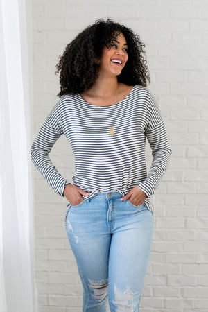 Wear It Your Way Striped Top - ALL SALES FINAL