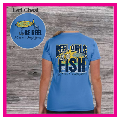 Reel Girls Fish   V NECK