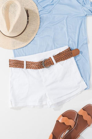 Sunset Beach Shorts White - ALL SALES FINAL
