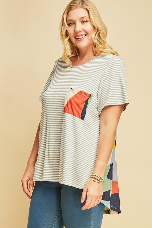 Kaleidoscope Striped Top