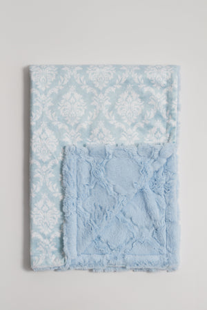 Crystal Blue Damask Child Blanket