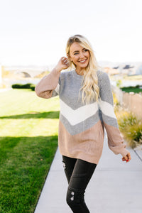 Autumn Vibes Chevron Sweater