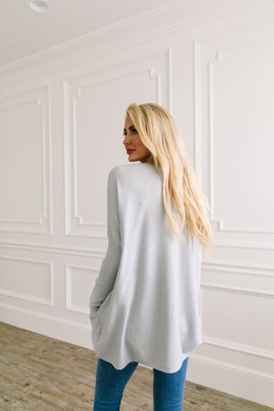 In The Pocket Tunic In Soft Ash Blue