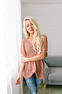 Open Weave Springtime Sweater