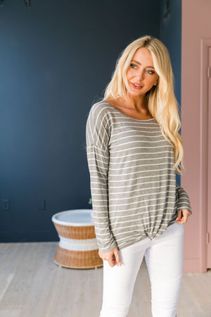 Too Cool For School Striped Knit Top