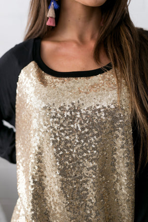 All That Glitters Is Gold Sequined Top