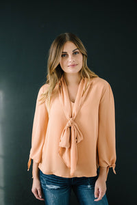 All Tied Up Blouse in Pumpkin