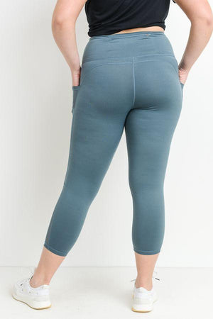 Running The World Leggings In Dusty Teal PLUS