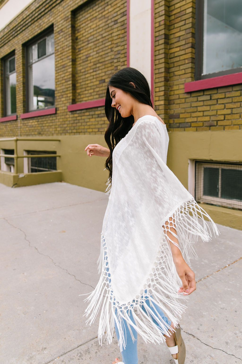 Boho Embroidered + Fringed Top