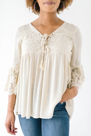 Boho Ties Lace Top