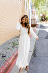 Camelot Lace Trimmed Maxi Dress - ALL SALES FINAL